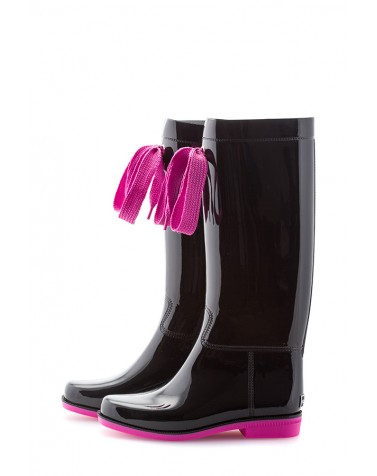 Wellies Black & Pink