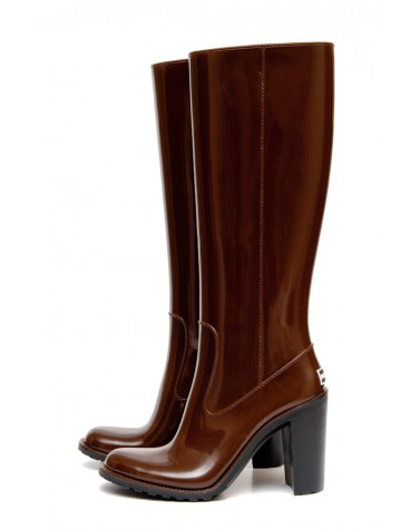 Wellies Brown&Zipper High | Boomboots