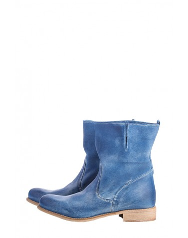 Leather Boots | Blue