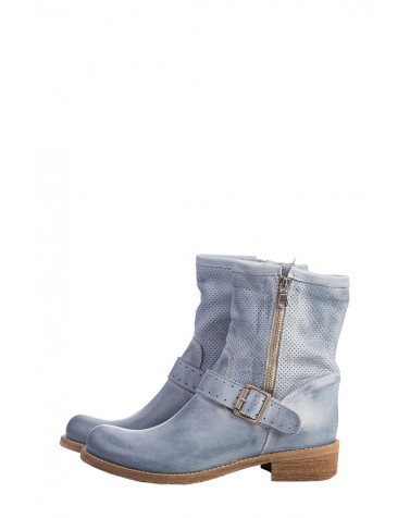 Buckle Leather Boots | Jeans