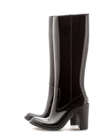 Wellies Black & Zipper High
