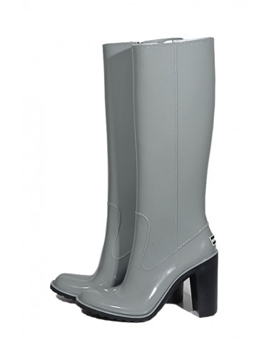 Wellies Gray & Zipper High