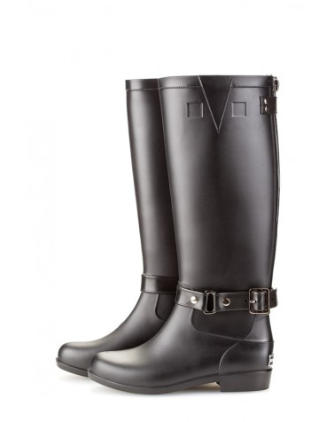 Wellies Zip & Black