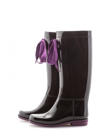 Wellies Black & Violet