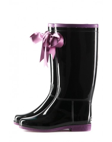 Wellies Black & Violet (Insulated)