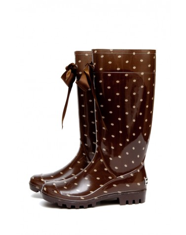 Wellies Brown & Spots