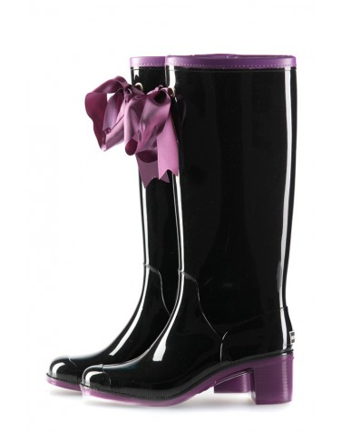 Wellies Black & Violet High (Insulated)