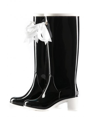 Wellies Black & White High (Insulated)