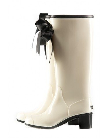 Wellies White & Black High (Insulated)