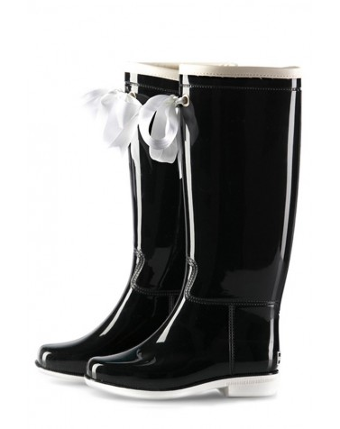 Wellies Black & White (Insulated)
