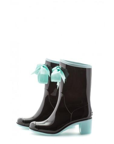 Wellies Black & Blue Short