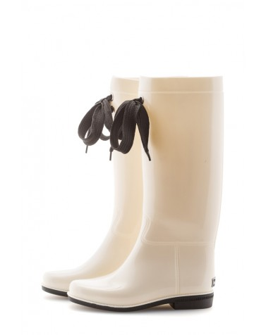 Wellies White & Black